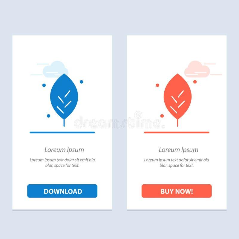 De ecologie, Blad, Aard, springt Blauwe en Rode Download op en koopt nu de Kaartmalplaatje van Webwidget vector illustratie