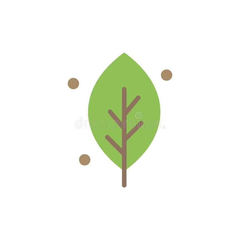 De ecologie, Blad, Aard, springt Vlak Kleurenpictogram op Het vectormalplaatje van de pictogrambanner stock illustratie