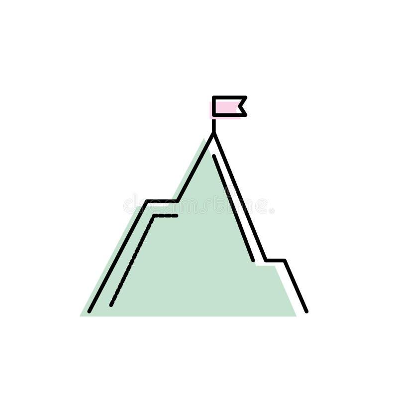 De ecologie van de aardberg met vlagontwerp stock illustratie