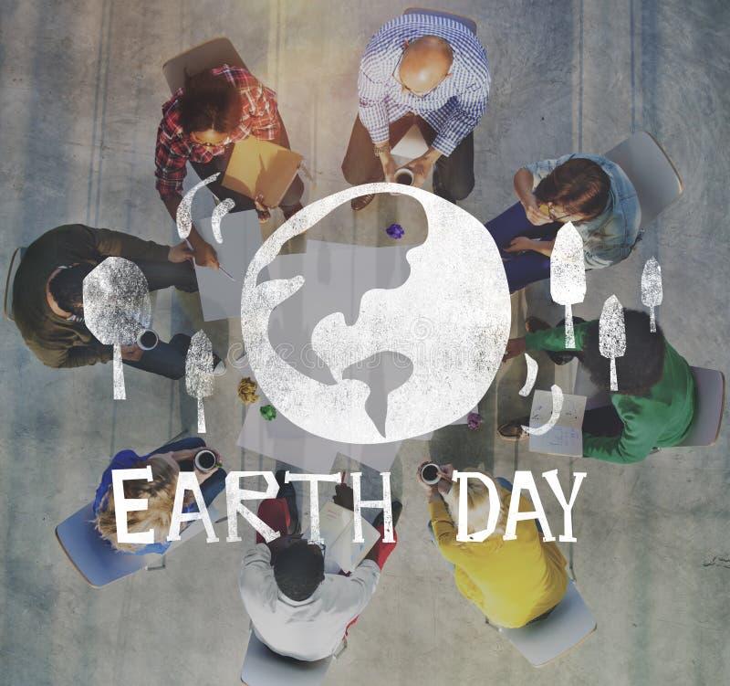 De Ecologie van de aardedag bewaart Aardeconcept royalty-vrije stock afbeelding