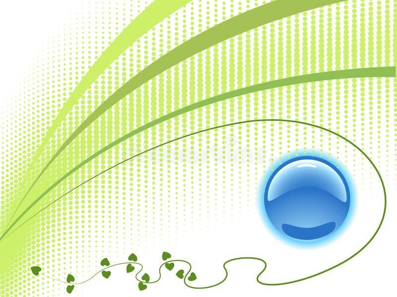 De ecologie van het malplaatje met embleem vector illustratie
