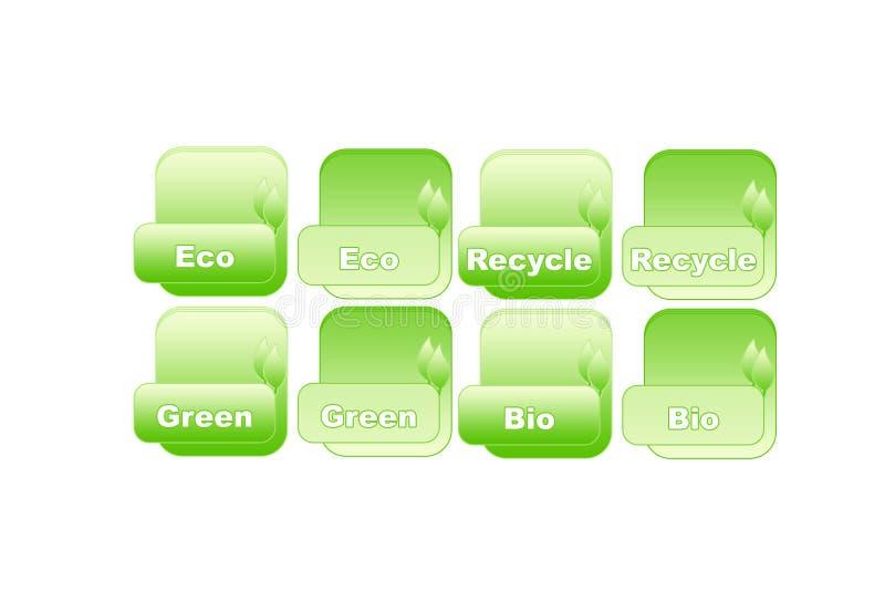 De ecologieknoop van Aktive royalty-vrije stock afbeelding