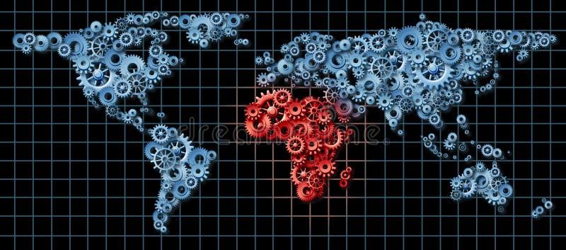 De Economie van Afrika vector illustratie