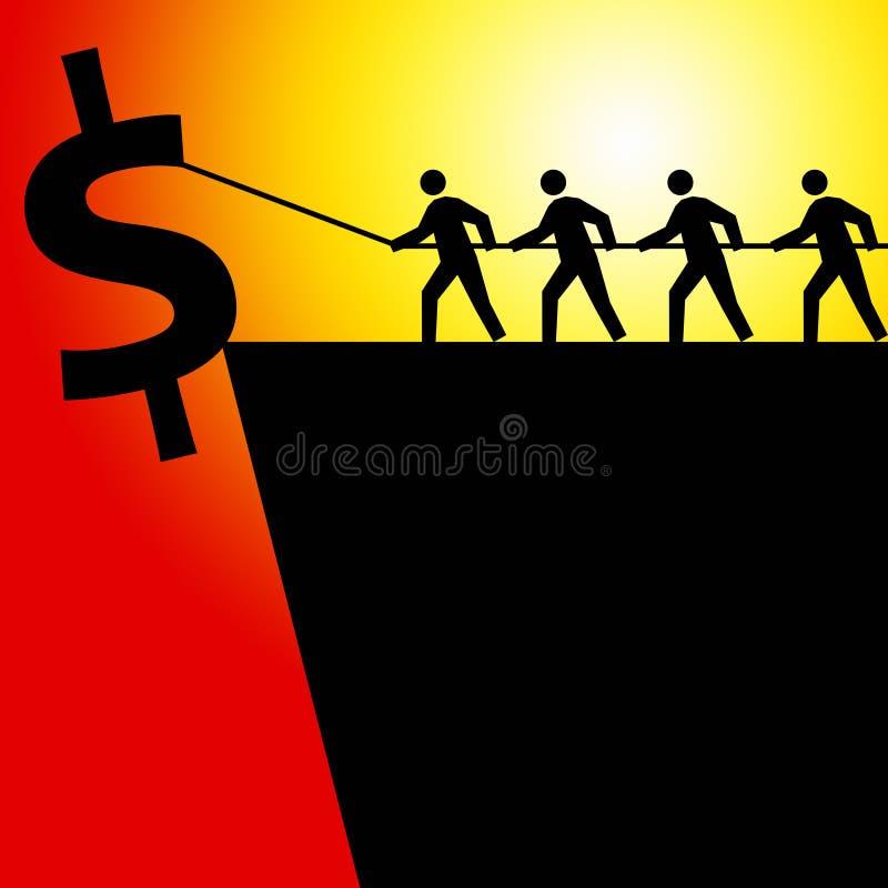 De economie van de dollar royalty-vrije illustratie