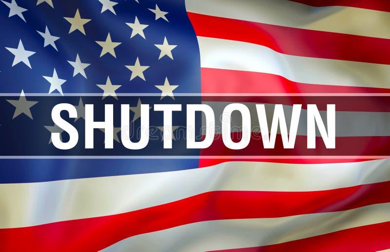 De economische schade van de sluitingsv.s., het 3d teruggeven Overheidssluitingen in de Verenigde Staten De Politiek van Verenigd vector illustratie