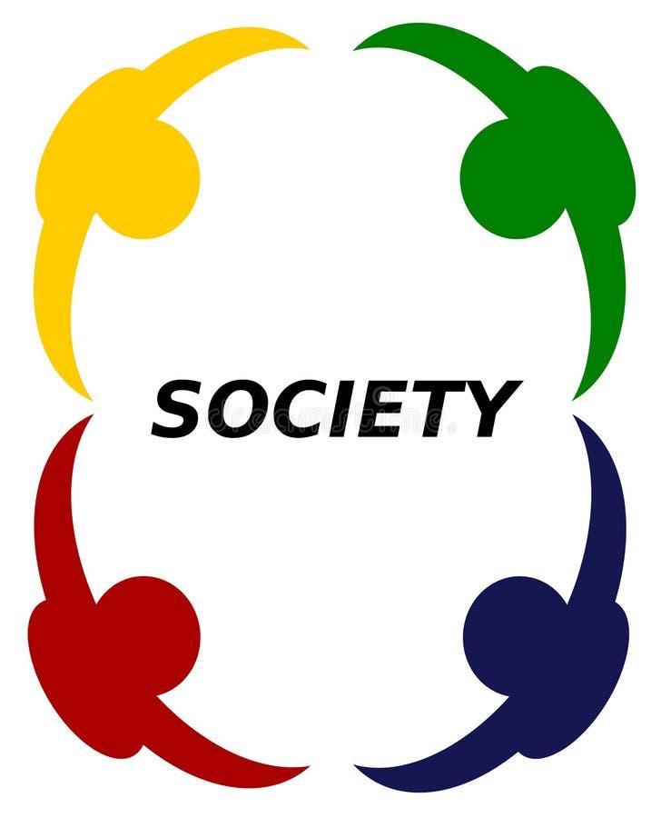 De Eenheid van de Maatschappij van de tolerantie royalty-vrije illustratie