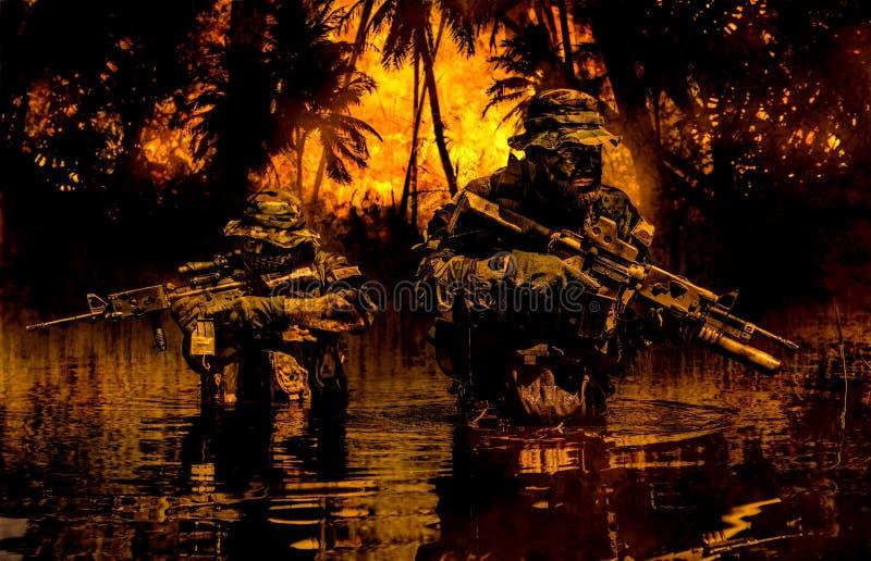 De eenheid van de wildernisoorlogvoering stock afbeeldingen