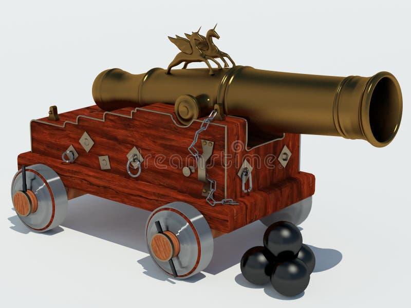 De eenhoorn van het kanon met vervoer vector illustratie