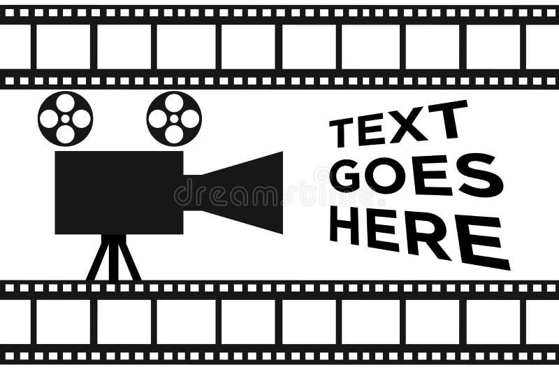 De eenvoudige banner van de filmspoel royalty-vrije illustratie