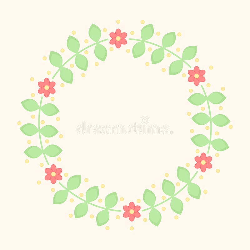 De eenvoudige bloemenachtergrond van de elementencirkel royalty-vrije illustratie