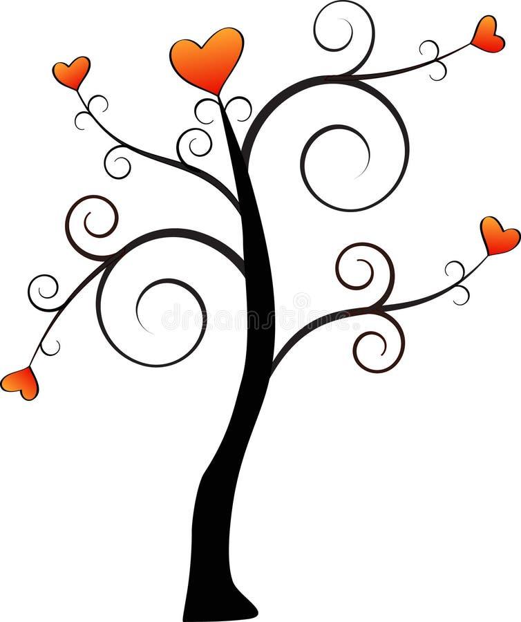 De eenvoudige Boom van de Liefde stock illustratie