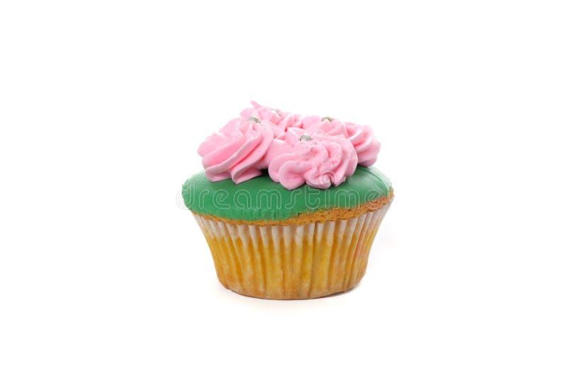 De eenvoudige Cake van de Foto kleine Kop op witte achtergrond voor uw het elementenontwerp van de verjaardagsgroet royalty-vrije stock foto's