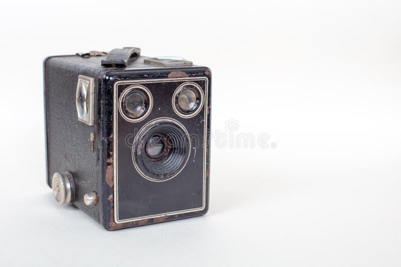De eenvoudige en goedkope Basiscamera van de kartondoos royalty-vrije stock fotografie