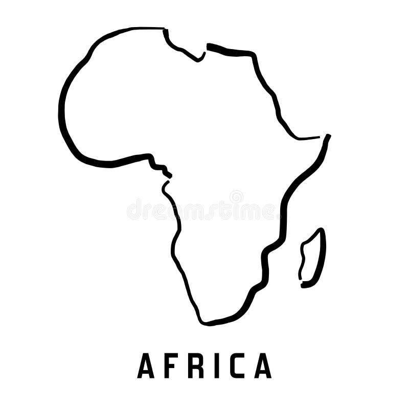 De eenvoudige kaart van Afrika royalty-vrije illustratie