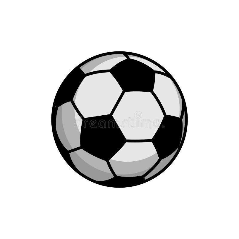De eenvoudige Klassieke Vector van de Voetbalbal vector illustratie