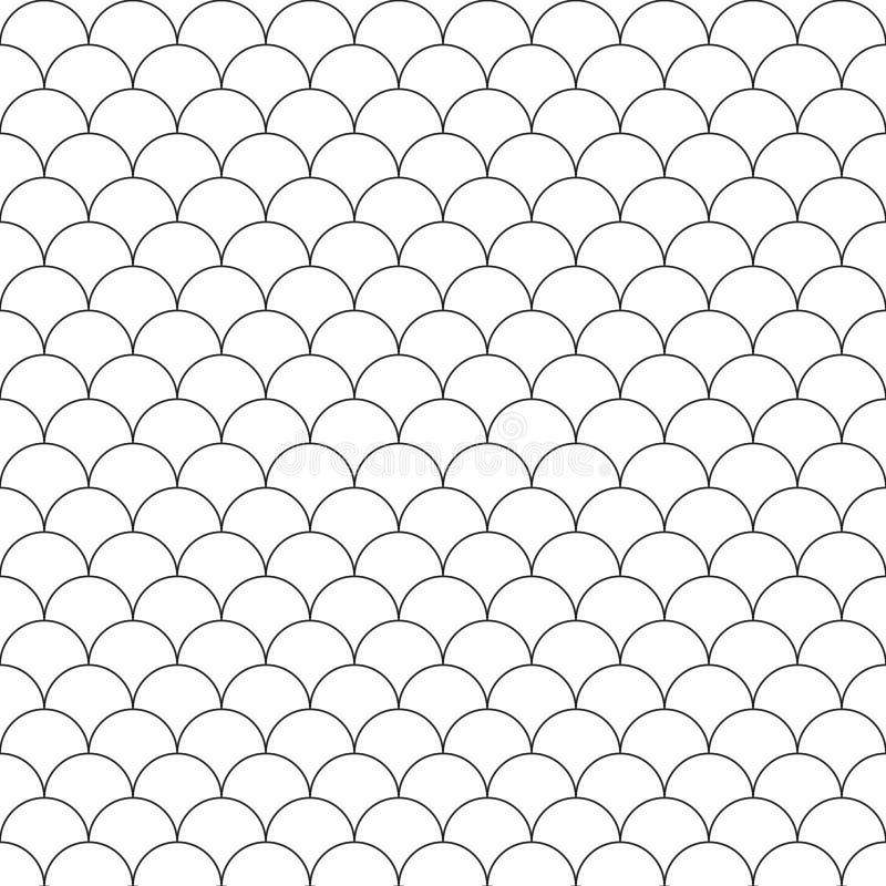De eenvoudige naadloze schalen van patroonvissen vector illustratie