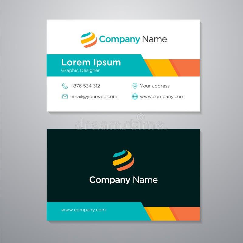 De eenvoudige ontwerpsjabloon van het Bedrijfadreskaartje vector illustratie