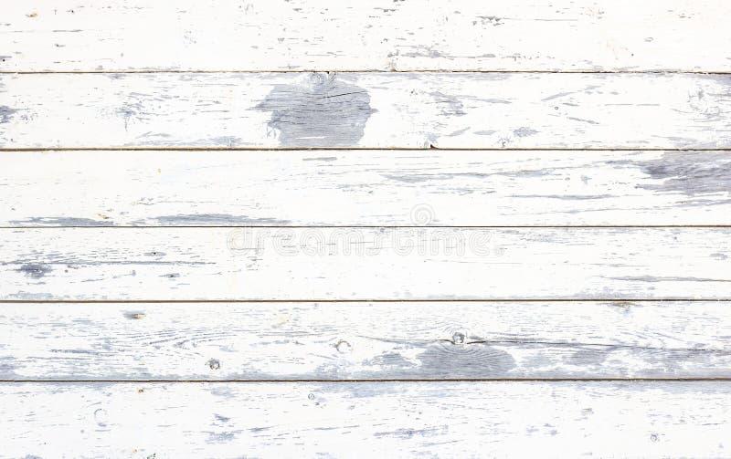 De eenvoudige oude achtergrond van de grunge rustieke houten textuur met witte kleur barstte doorstane verf en krassen royalty-vrije stock afbeeldingen