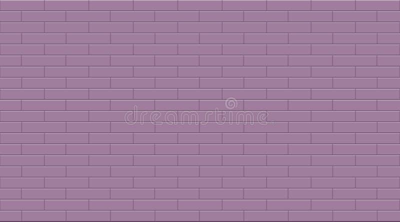 De eenvoudige purpere achtergrond van de de tegelstextuur van het rechthoek ceramische mozaïek vector illustratie