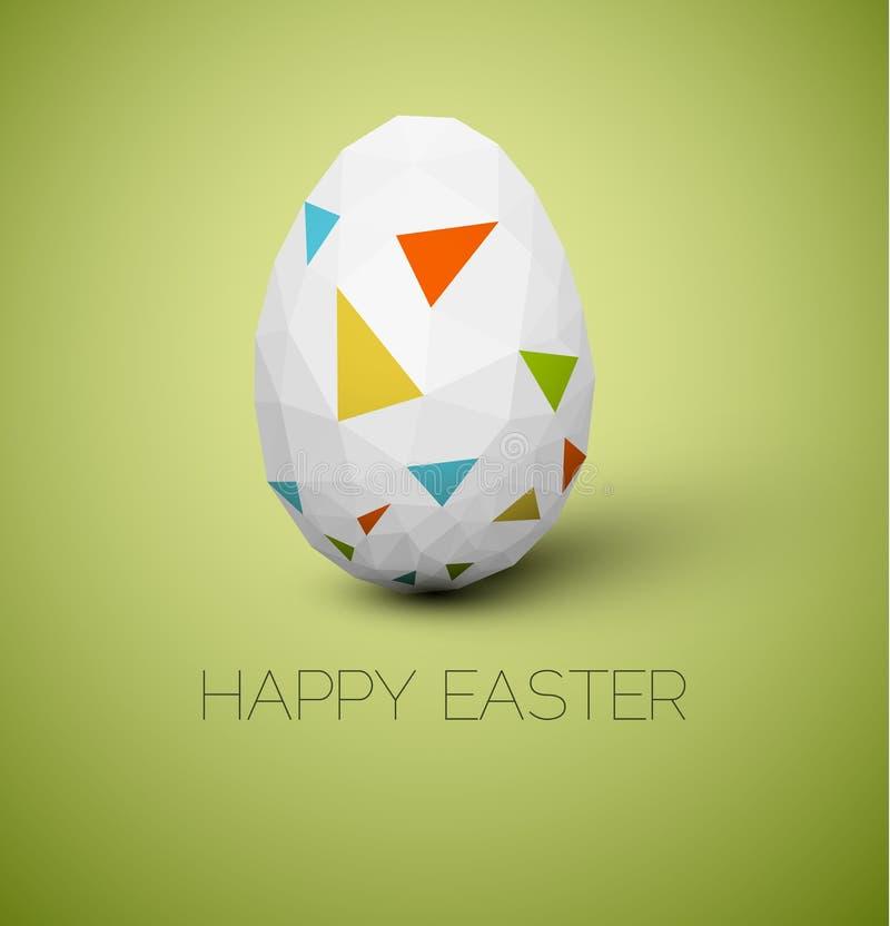 De eenvoudige vector Gelukkige kaart van Pasen