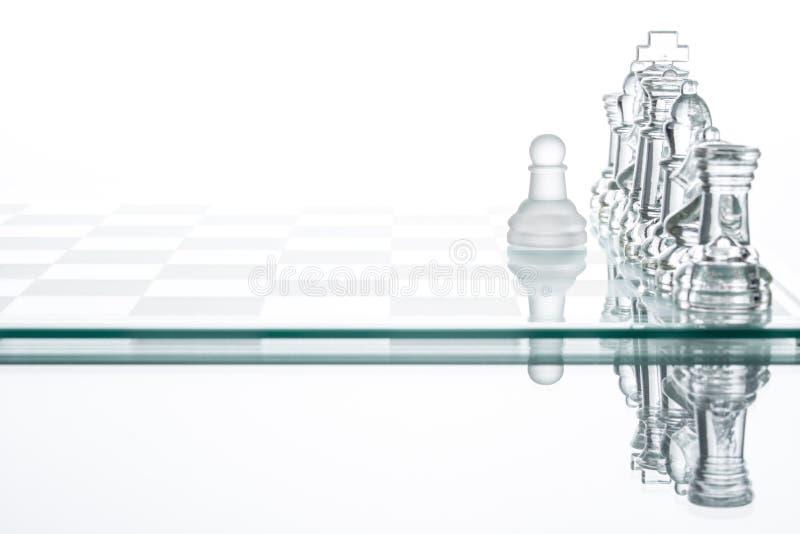 De Eenzaamheid die van het pandschaak, de strategiesucces van het Businessplan vechten stock foto's