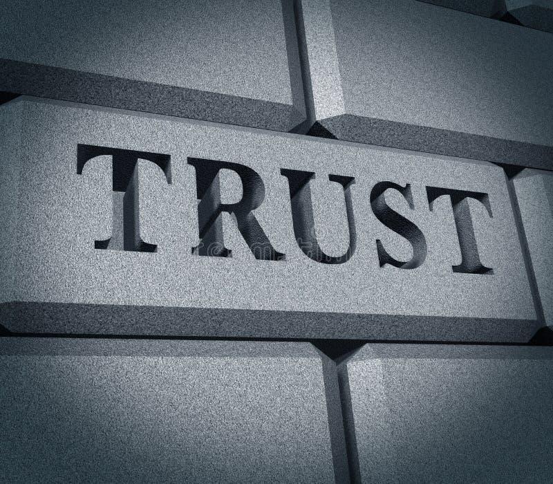 De eer financiële van het bedrijfs vertrouwen symboolintegriteit DE royalty-vrije illustratie