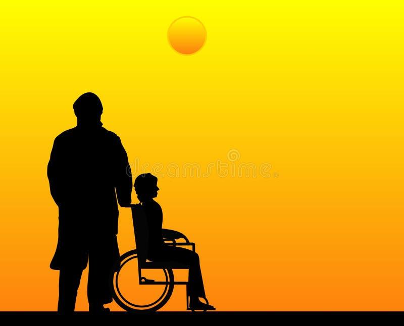 De eerbied, de liefde en de zorg voor die u houden van. stock illustratie
