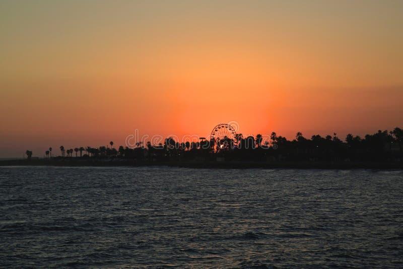 De eerlijke zonsondergang van de Ventruraprovincie stock foto