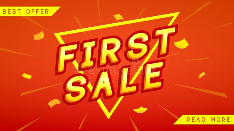 De eerste banner van het verkoopweb royalty-vrije illustratie