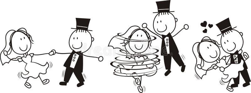 De eerste dans van het huwelijk stock illustratie