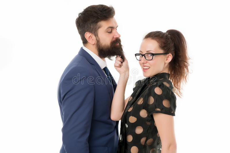 De eerste indrukken zijn alles De man en de vrouw concurreren voor baanpositie Gendergelijkheid Bedrijfsrivaliteitsconcept royalty-vrije stock fotografie