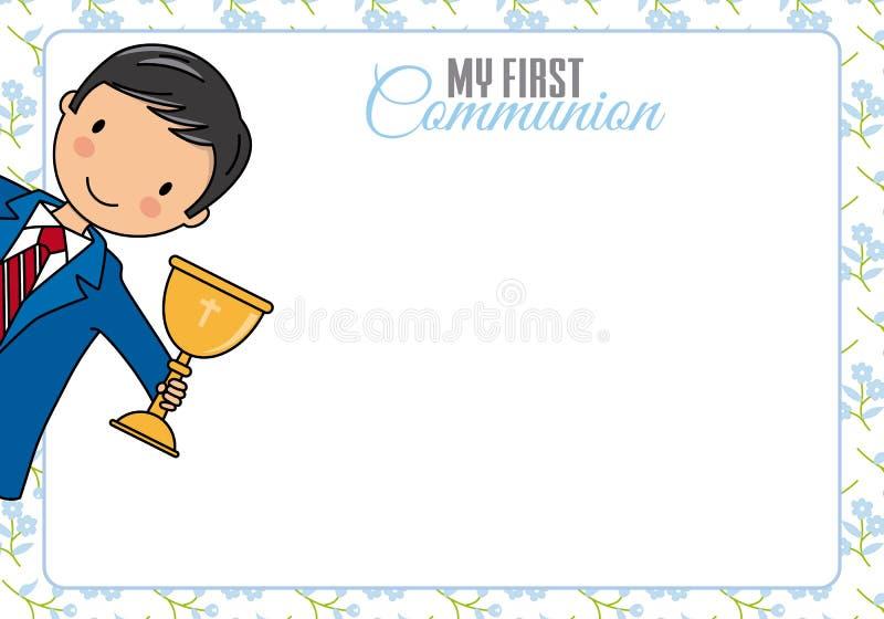 De eerste Kaart van de Heilige Communie royalty-vrije illustratie