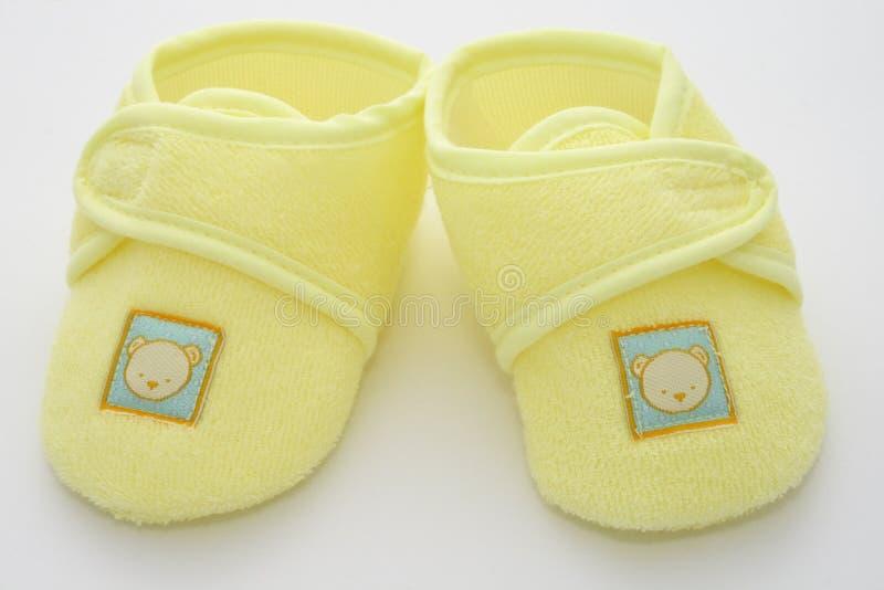 De eerste schoenen van babys royalty-vrije stock afbeeldingen