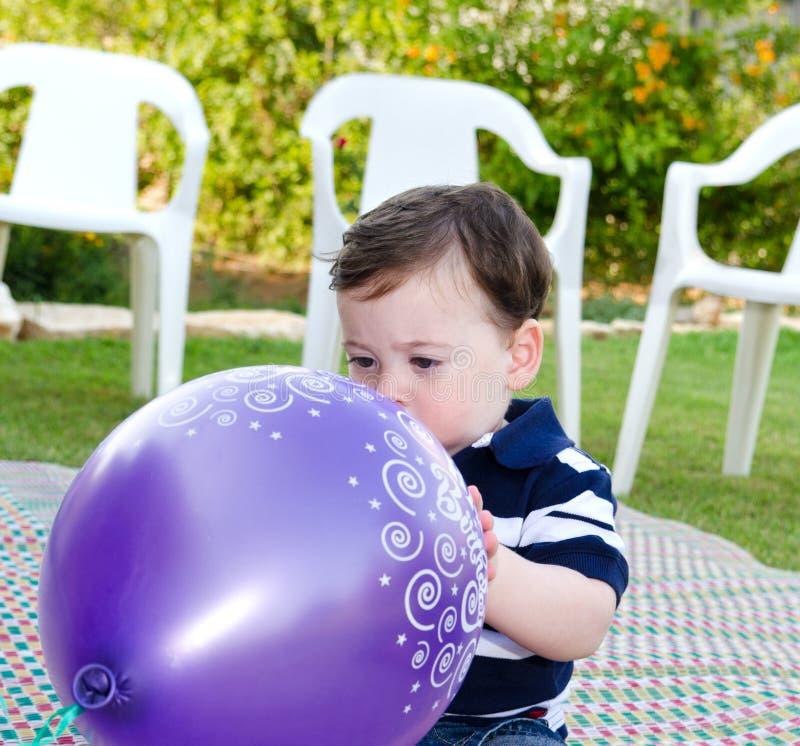 De eerste verjaardag van de babyjongen royalty-vrije stock afbeelding