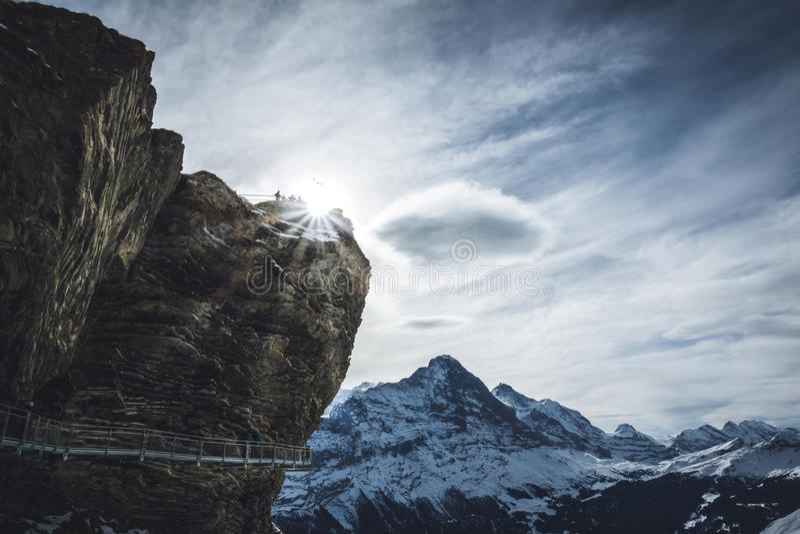 De eerste winterlandschap royalty-vrije stock fotografie