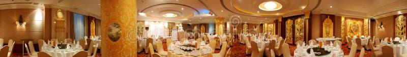 De eetkamerpanorama van het hotel royalty-vrije stock afbeeldingen