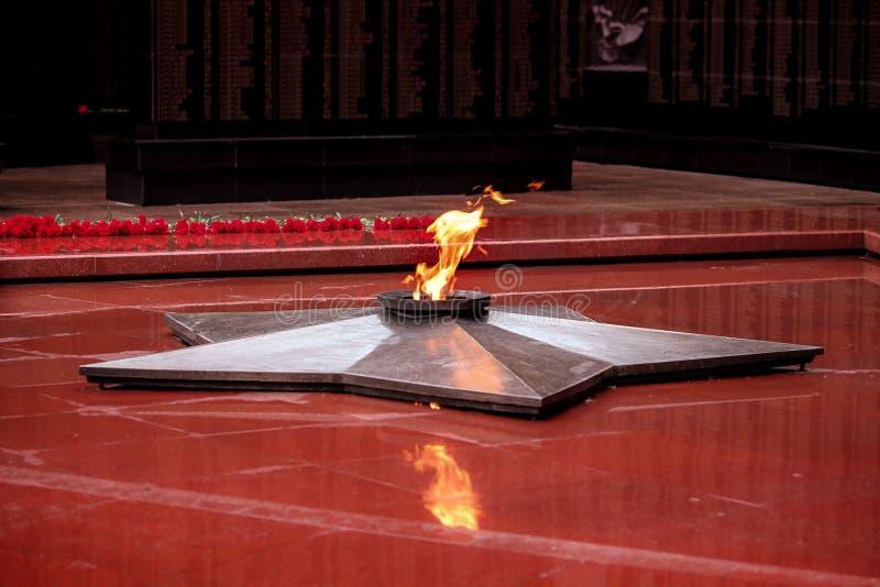 De eeuwige vlam stock afbeelding
