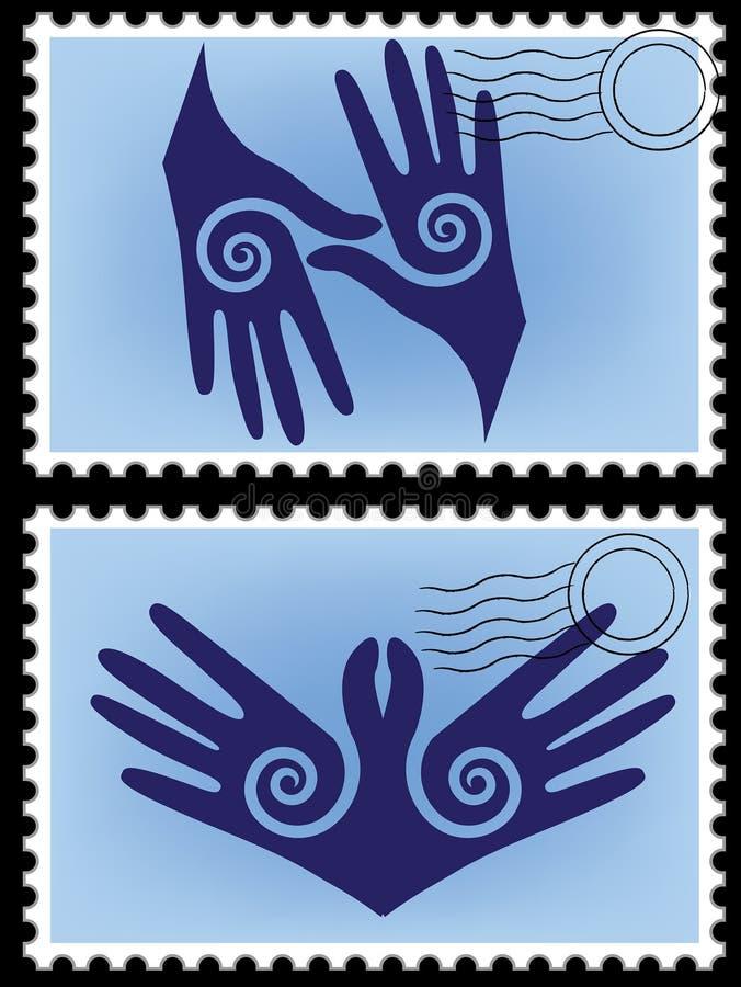 De eeuwigheid van de prentbriefkaar. royalty-vrije illustratie