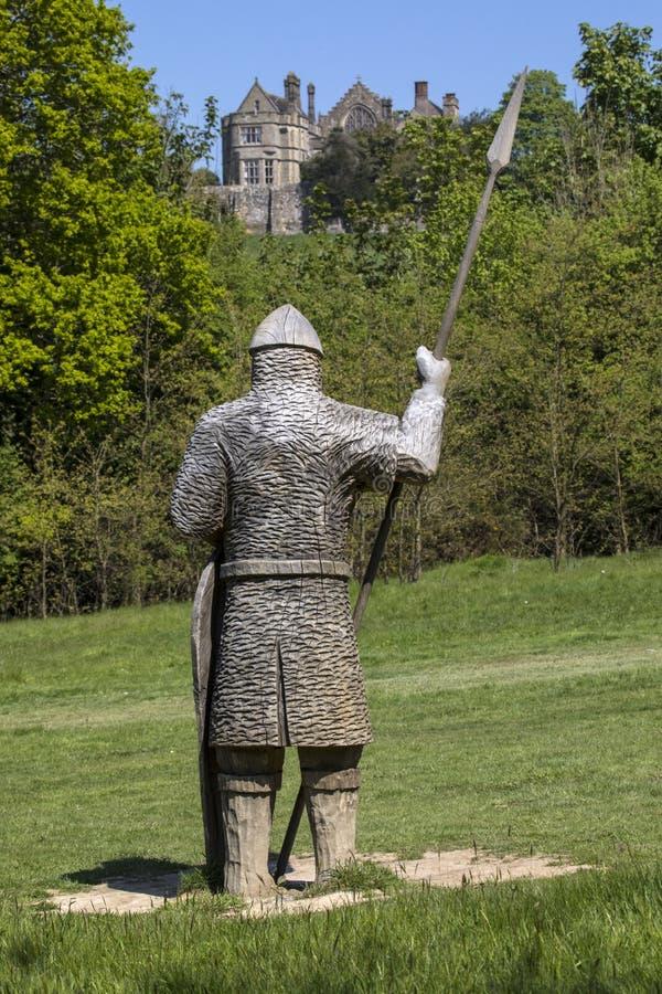 de 11de Eeuwmilitair Sculpture bij Slagabdij royalty-vrije stock afbeeldingen