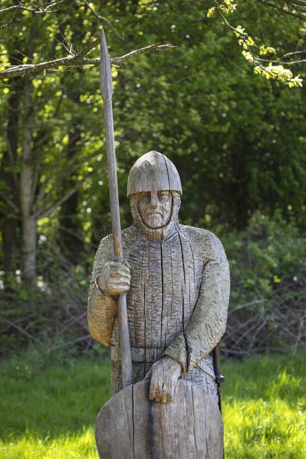 de 11de Eeuwmilitair Sculpture bij Slagabdij royalty-vrije stock foto