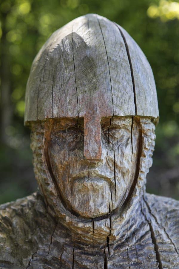 de 11de Eeuwmilitair Sculpture bij Slagabdij stock afbeelding