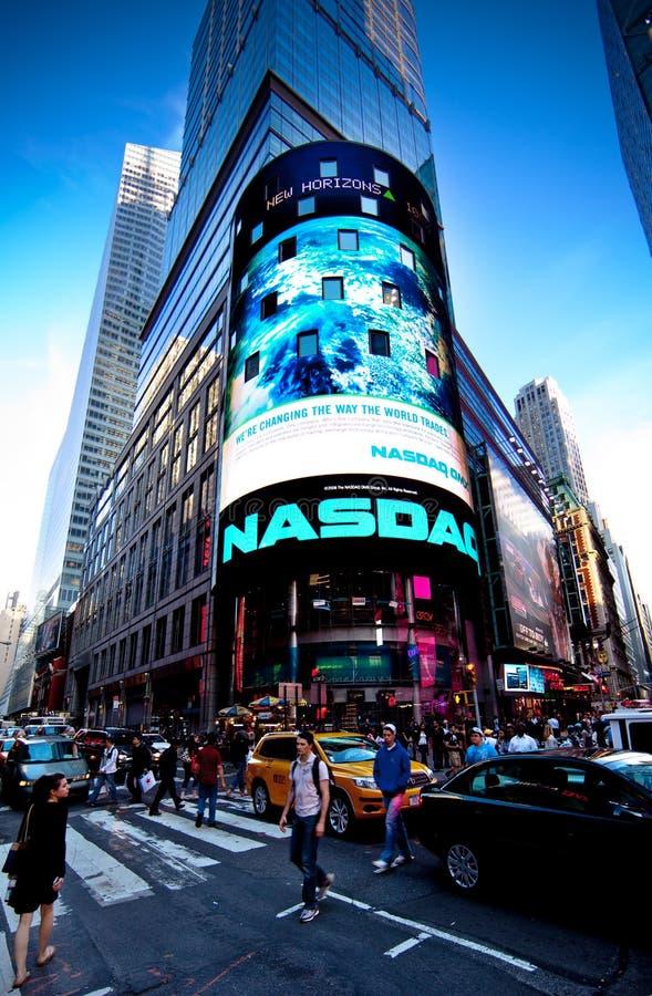 De Effectenbeurs NASDAQ stock fotografie