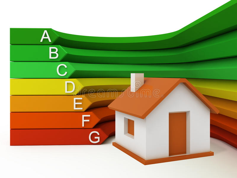 De efficiency van de Energie van het huis stock illustratie