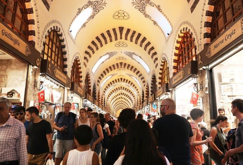 De egyptische markt in Istanbul Turkije royalty-vrije stock afbeelding