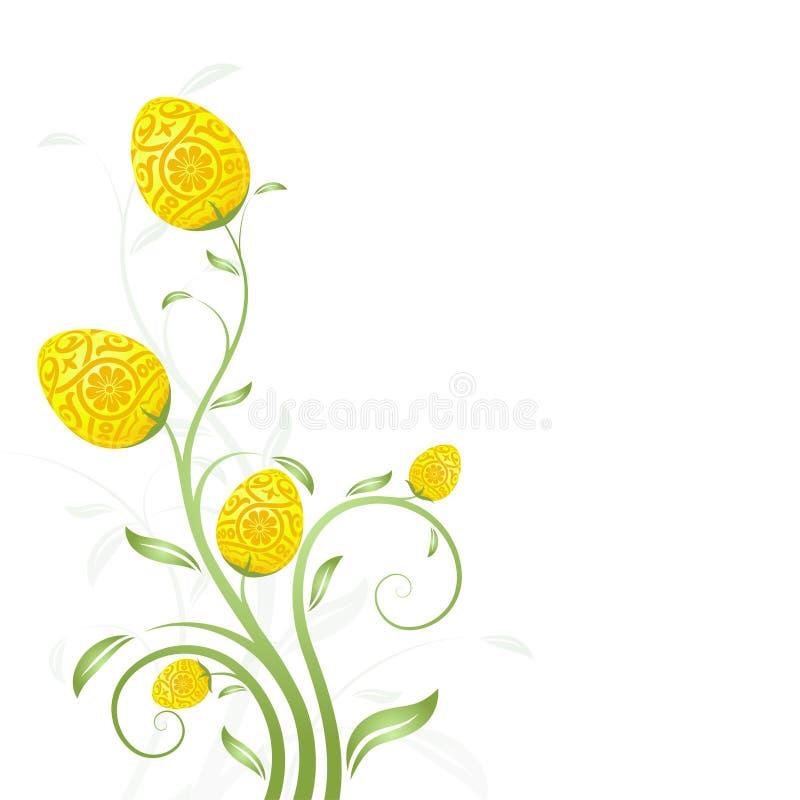 De ei-Bloemen van Pasen Kaart stock illustratie