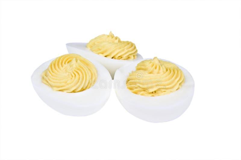 De eieren van Deviled royalty-vrije stock foto's