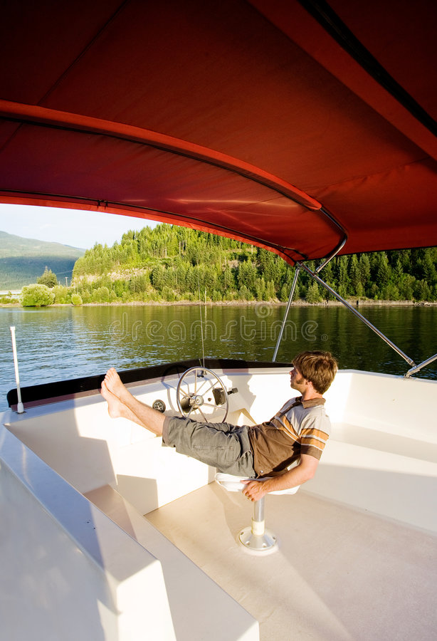 De Eigenaar van de Boot van de luxe stock foto's