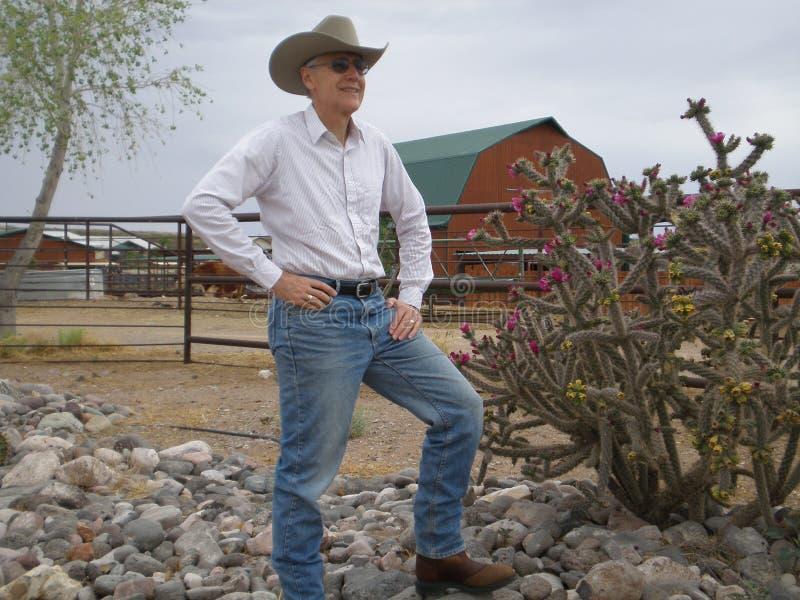 De Eigenaar van een ranch van New Mexico royalty-vrije stock fotografie
