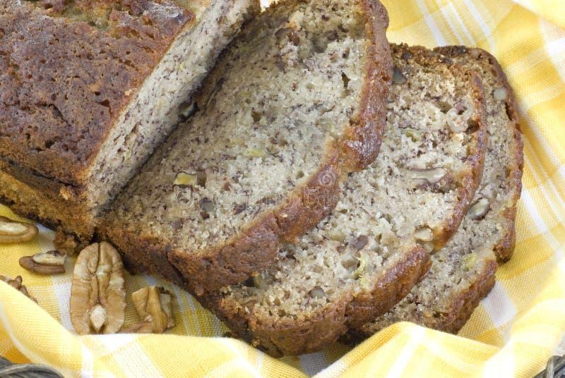 De eigengemaakte Close-up van het Brood van de Banaan royalty-vrije stock afbeeldingen
