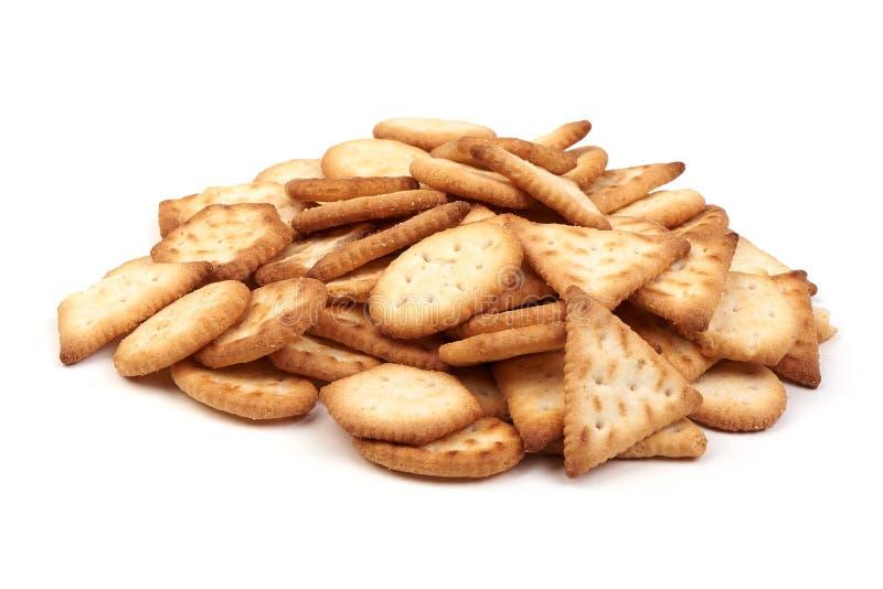 De eigengemaakte dunne knapperige kaasachtige snack van de kaascrackers van het crackers verse organische eigengemaakte die bakse royalty-vrije stock fotografie